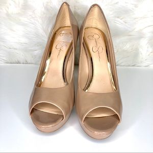 Jessica Simpson Shoes - JESSICA SIMPSON | patent leather peep toe heel